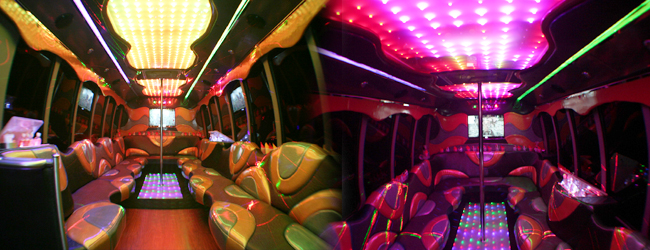 Ford F550 party bus interior