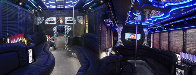 34 pax party bus interior