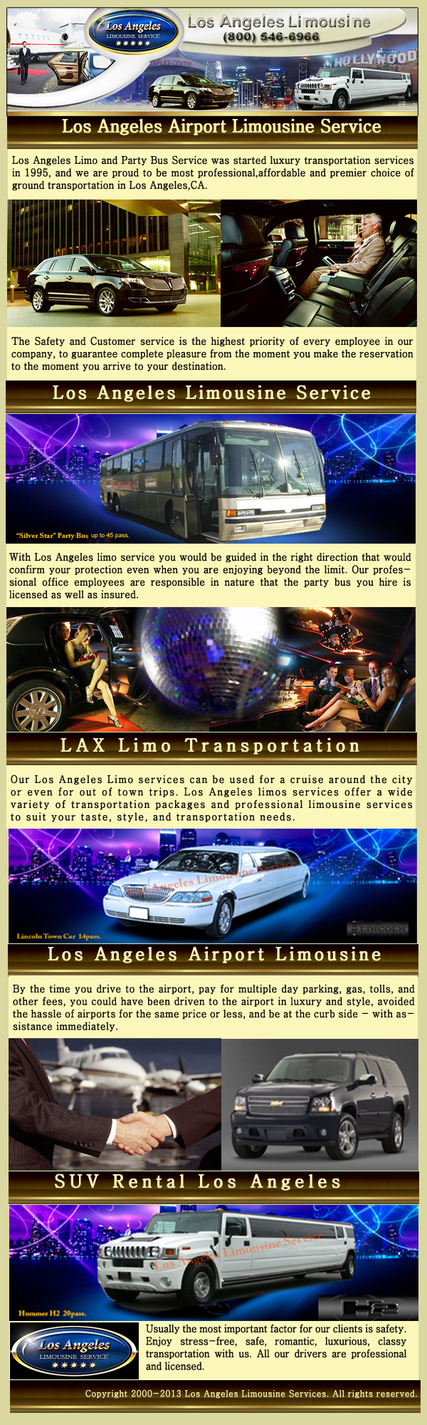 Los Angeles Limo Infographic